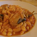 typical italian cuisine in Tuscany Italy