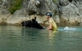 horse riding in natural reserve Tuscany Italy