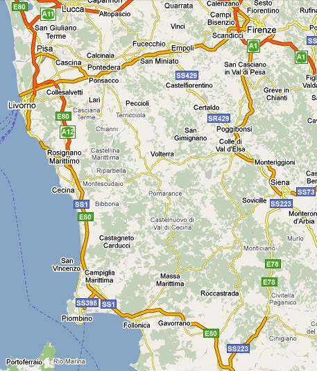 Toskana Karte Italien.Podere Palazzone Reiten In Der Toskana Ferien Auf Dem Bauernhof